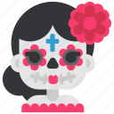 day of the dead, de, dia, mexico, muertos, skeleton, skull icon