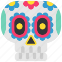 mexico, day of the dead, de, dia, mexican, sugar skull, muertos icon