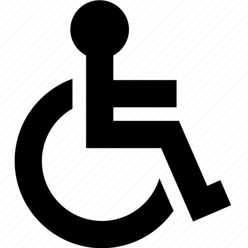 disability, disabled, handicap, invalid, wheelchair icon