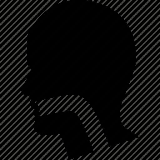 head, human, larynx, sick, sore, throat icon