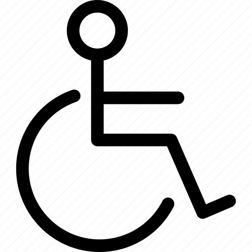 disability, disabled, handicap, invalid, patient, wheelchair icon