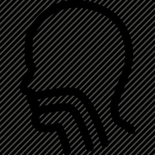 Esophagus, otolaryngology, patient, throat, head, larynx, sore icon - Download on Iconfinder