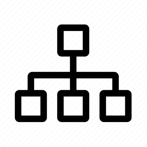 delegation, diagram, organigram, structure icon