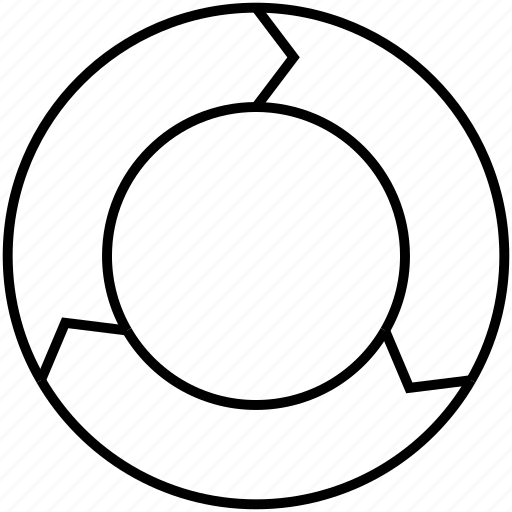 circle, flux, infography, iteration, steps icon