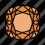 brilliant, cushion, diamond, gem, gemstone, jewel, video game items icon