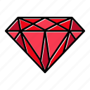 brilliant, diamond, gem, gemstone, jewel, premium, video game items icon