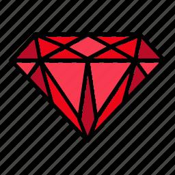 brilliant, diamond, gem, gemstone, jewel, premium, video game items icon