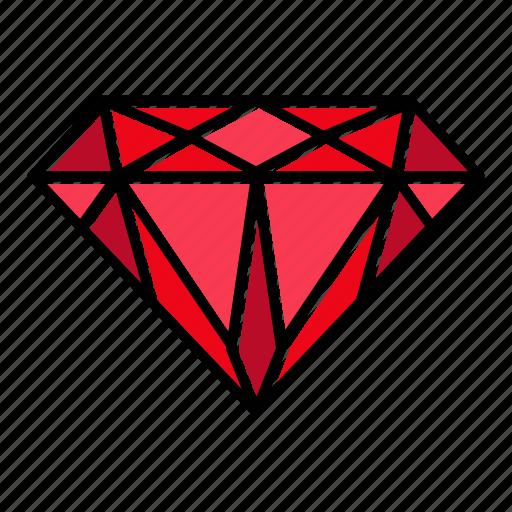 Brilliant, diamond, gem, gemstone, jewel, premium, video game items icon - Download on Iconfinder