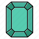 brilliant, diamond, emerald, gem, gemstone, jewel, video game items icon