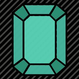 brilliant, diamond, emerald, gem, gemstone, jewel, video game items icon