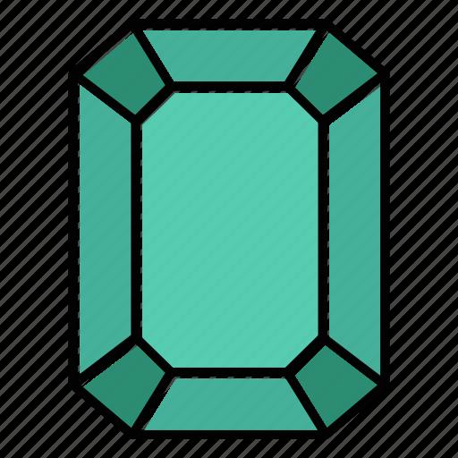 Brilliant, diamond, emerald, gem, gemstone, jewel, video game items icon - Download on Iconfinder
