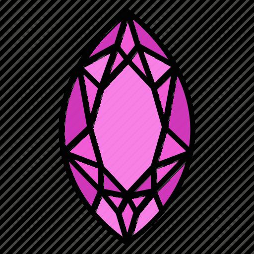 Brilliant, diamond, gem, gemstone, jewel, marquis, video game items icon - Download on Iconfinder