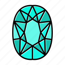 brilliant, gem, gemstone, jewel, pear, video game items icon