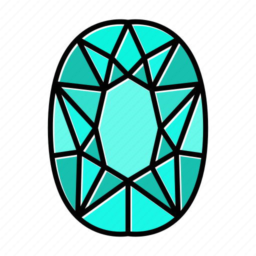 brilliant, gem, gemstone, jewel, pear, video game items icon