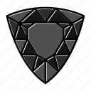 brilliant, diamond, gem, gemstone, jewel, trillion, video game items icon