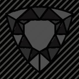 brilliant, diamond, gem, gemstone, jewel, trillion, video game items icon
