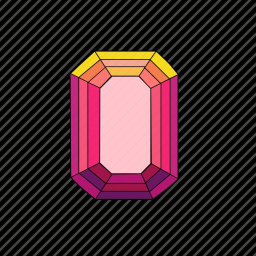 crystal, diamond, emerald, jewel, radiant, ruby, stone icon