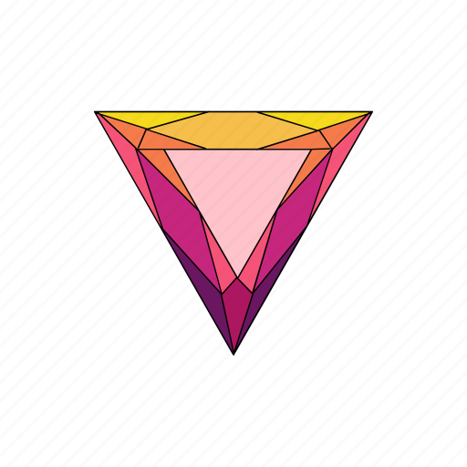 crystal, diamond, jewel, ruby, shape, stone, trillion icon