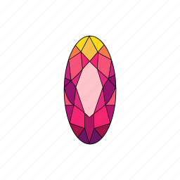 crystal, diamond, jewel, marquise, radiant, ruby, stone icon