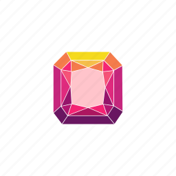 crystal, diamond, jewel, radiant, rhombus, ruby, stone icon