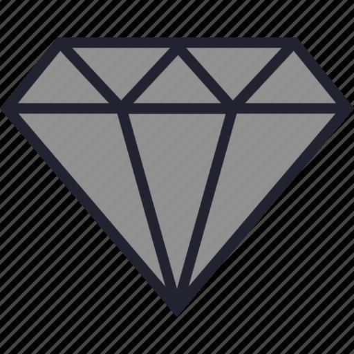 diamond, gem, gemstone, jewelry, stone icon