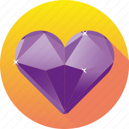 amethyst, diamond, gemstone, heart, jewelry, luxury, ruby icon