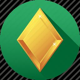 amber, diamond, gemstone, jewelry, luxury, rhombus, yellow icon