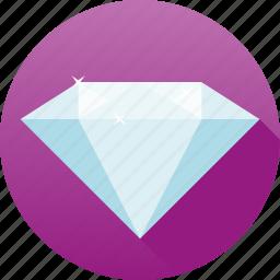 clear, diamond, gemstone, jewelry, luxury, precious, sparkle icon