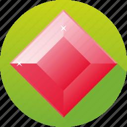 diamond, gemstone, jewelry, luxury, ruby, square, tourmaline icon