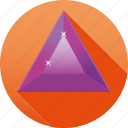 amethyst, diamond, gemstone, jewelry, luxury, purple, triangle icon