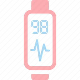 band, heart, heartbeat, rate, sport, watch icon