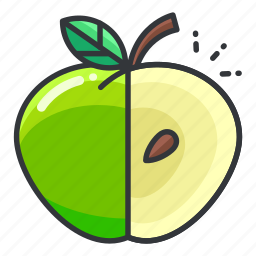 apple, diet, fitness, fruit, health icon
