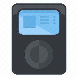 device, fitness, multimedia, music, player icon