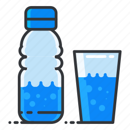 beverage, bottle, drink, fitness, glass, water icon