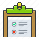 chart, clipboard, clipchart, fitness, list icon