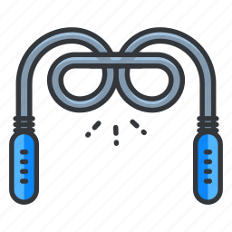 exercise, fitness, jump rope, jumprope, sport icon