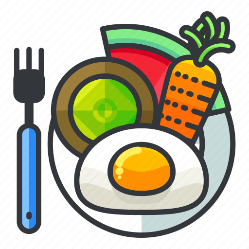 carrot, diet, fitness, health, kiwi, meal icon