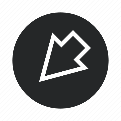 arrow, design, illustration, isolated, sign, web icon