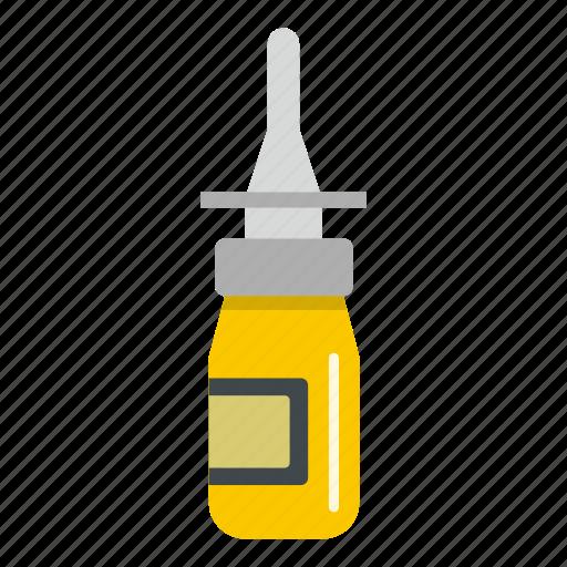 bottle, drop, dropper, medicine, nasal drops, nose, pipette icon