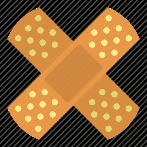 adhesive, bandage, bleeding, blood, care, cut, patch icon