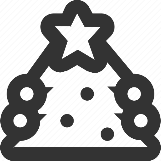 christmas tree, fir, fir tree, fur-tree, tree, ёлка icon