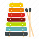 instrument, music, musical, stick, toy, wooden, xylophone icon