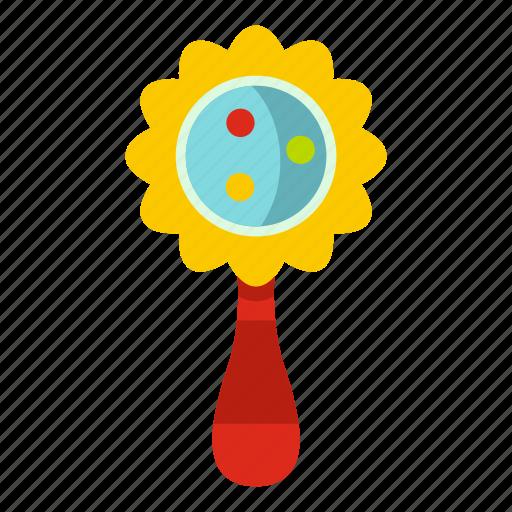 child, flower, kid, newborn, rattle, shake, toy icon
