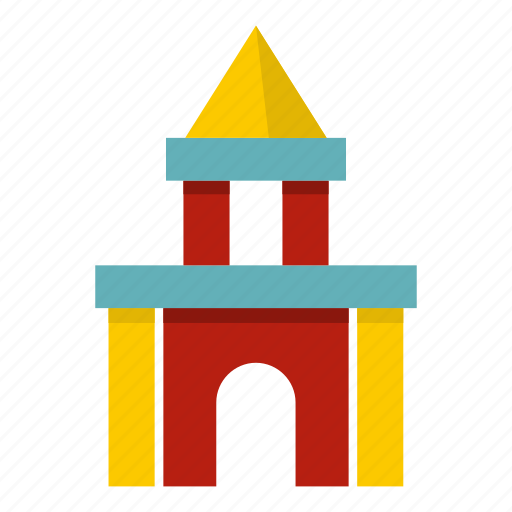 block, castle, child, cube, education, play, toy icon