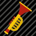 child, instrument, kid, music, plastic, toy, trumpet icon
