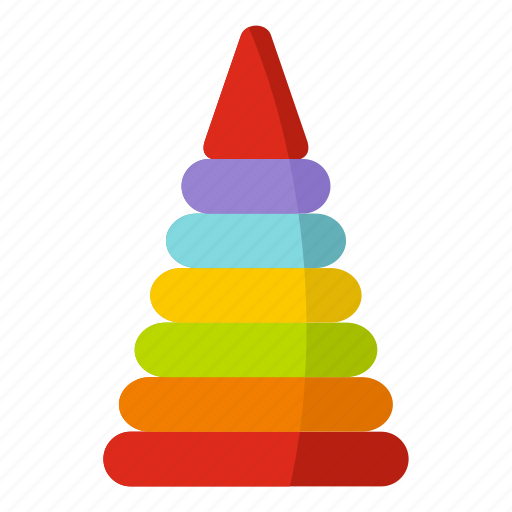 baby, child, game, play, pyramid, stack, toy icon