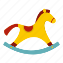 horse, play, pony, rocking, toy, wood, wooden icon