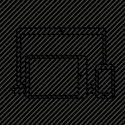 design, multi support, responsive, responsive design icon