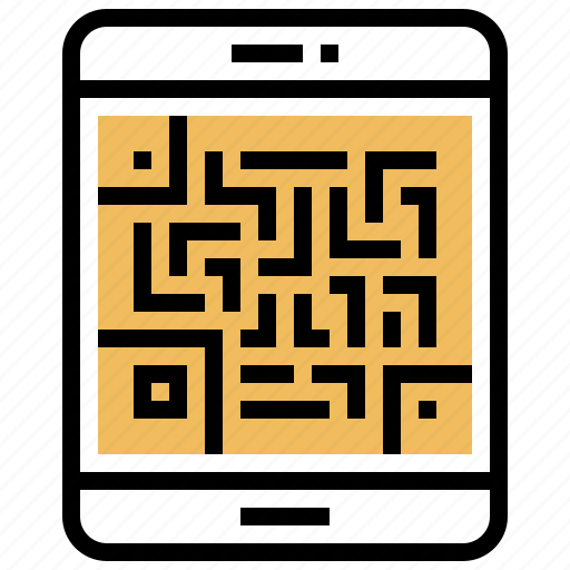 code, payment, qr, scan, smartphone icon