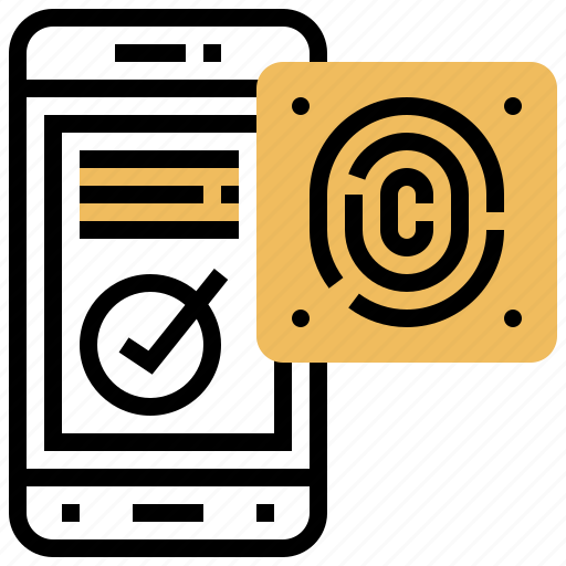access, confirmation, fingerprint, identification, privacy icon